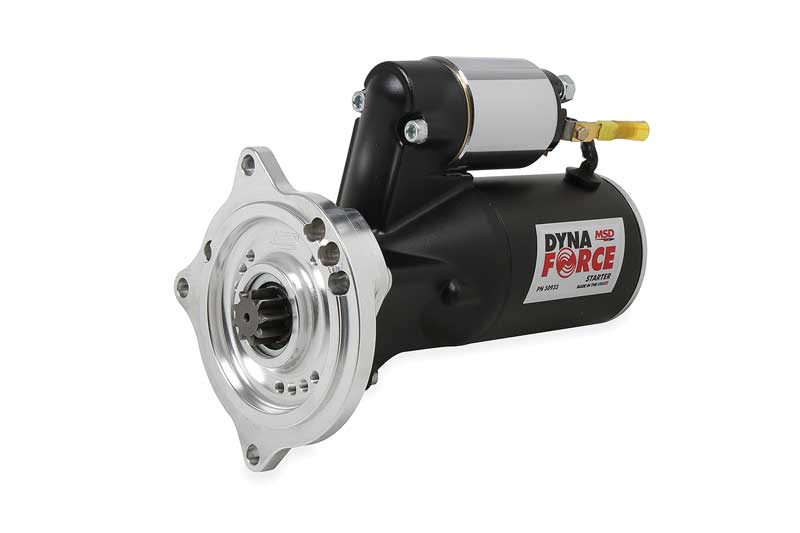 a50933 - msd dynaforce starter for ford 390-428 fe engines w/ manual or  automatic transmissions - black