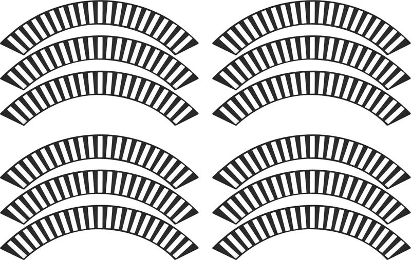 1958 Chevrolet Impala Parts   A5834   1958 Impala / Full Size Wheel Cover  Decals   Classic Industries