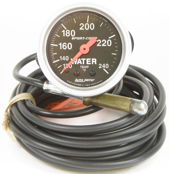 Auto Meter 3333 Sport-Comp 2-1//16 Mechanical Water Temperature Gauge with 12 Tubing