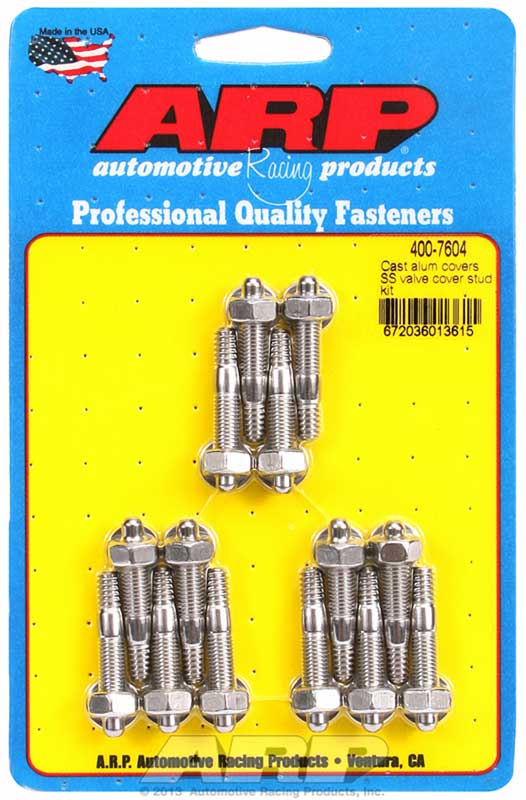 ARP Intake Manifold Bolt Set 455-2002; Polished Hex Stainless for 390-428 FE