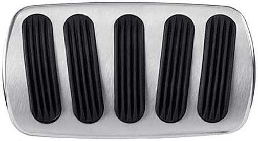 chevy lokar manual brake pedal pad wauto trans curved style brushed wrubber inserts
