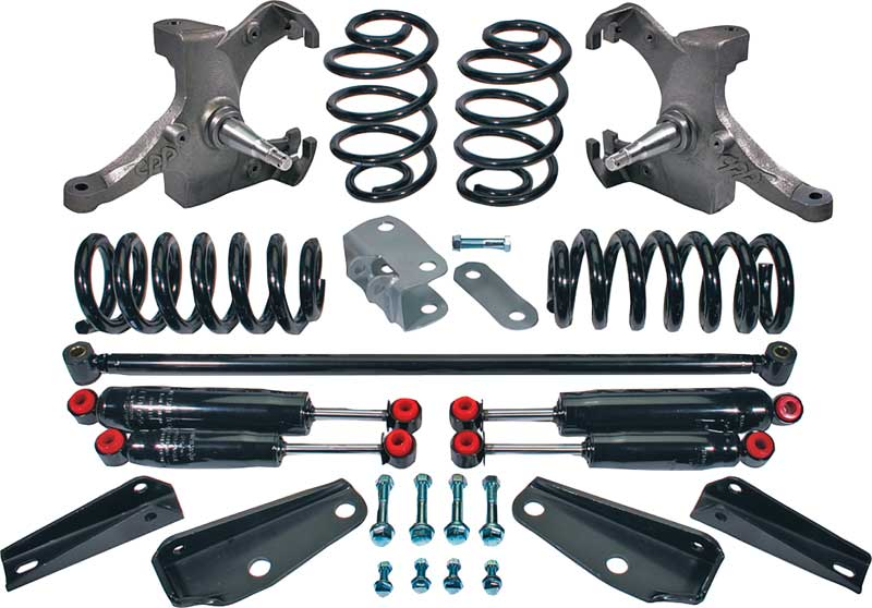 73-87 Chevy//GMC C10 Street Performance Front//Rear Shocks for 5//7 Drop