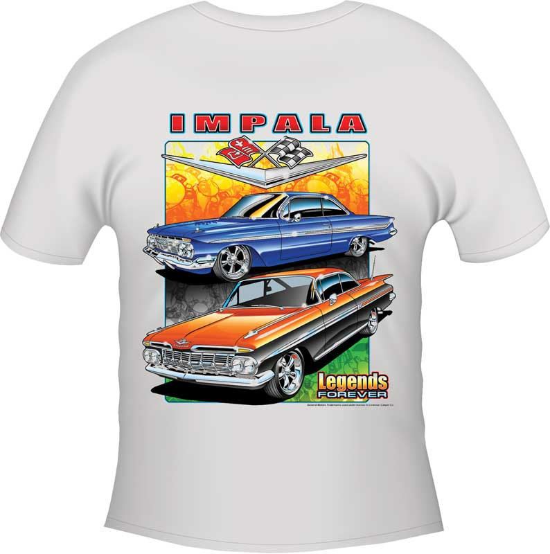 1964 Chevy Impala SS  The Legend Classic Car Men/'s T-shirts Made in USA