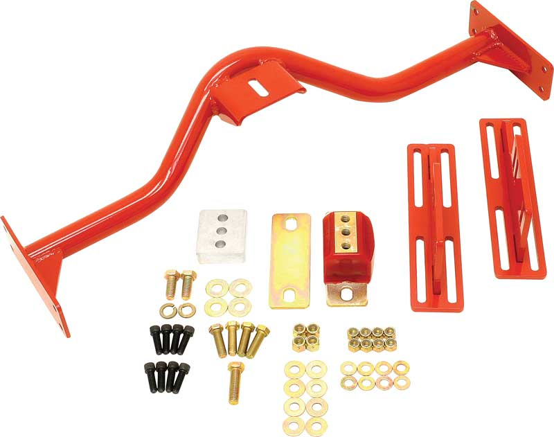 1967-1969 All Makes All Models Parts   BX50009A   1967-69 BMR Red Modular  Transmission Crossmember for Muncie 4 Speed/PG/TH350/700R4/4L60E   Classic