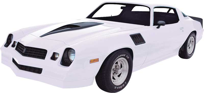 78 81 camaro ground effects set with hardware for 1980 camaro rear window louvers