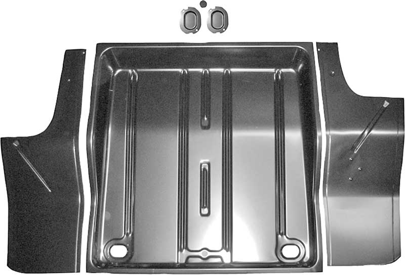 1962-65 Nova Chevy II Rear Center Tail Panel With Trunk Weatherstrip Channel