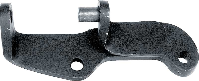 BLACK TOP WATER PUMP MOUNTED ALTERNATOR BRACKET FOR 65-68 CHEVY SB WITH SWP