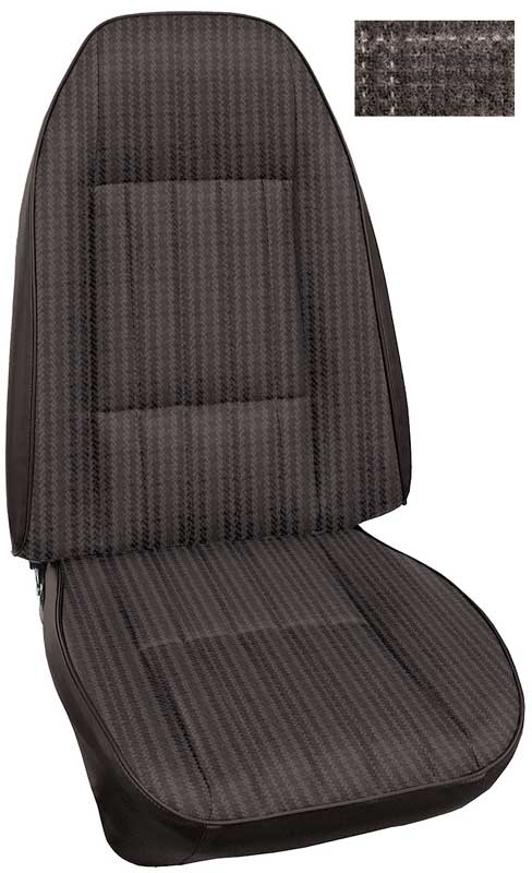1979 Chevrolet Camaro Parts | C91279147 | 1979 Camaro Standard Cloth Black  Front Bucket Seat Upholstery | Classic Industries