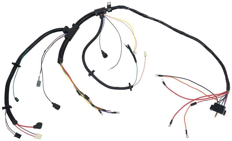 1972 Camaro Engine Wiring Harness V8 Small Block With Factory Gauges