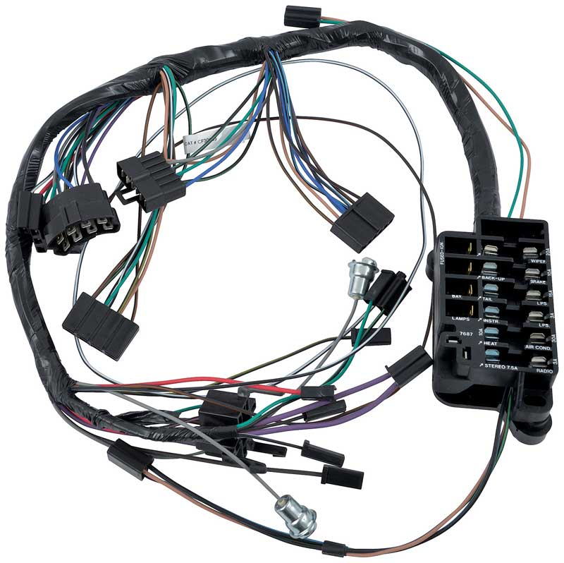 CF30165 1964 chevrolet impala parts electrical and wiring wiring and motor wiring harness for a 1966 ford galaxie at panicattacktreatment.co