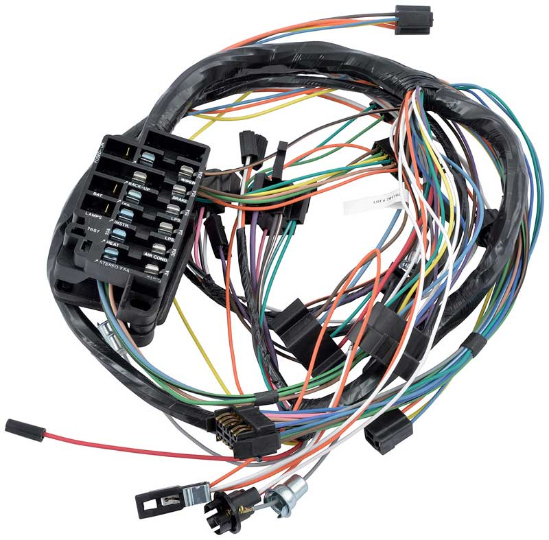 impala parts electrical and wiring wiring and connectors 1966 impala full size floor shift manual trans underdash wiring harness