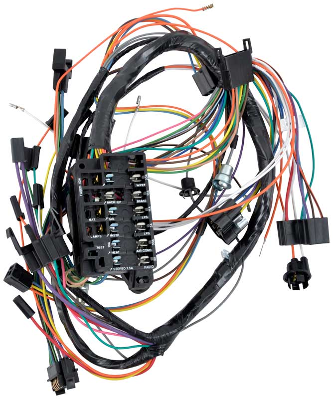 1966 impala parts electrical and wiring wiring and connectors 1966 impala full size column shift auto trans and warning lamps underdash wiring harness