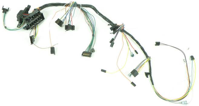 1966 impala parts electrical and wiring wiring and connectors 1966 impala full size column shift auto trans warning lamps and ac underdash wiring harness