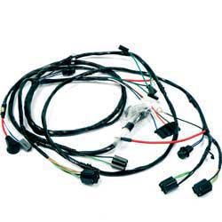 1966 all makes all models parts | cg66975 | 1966 impala / full size v8 with warning lamps front ... 1966 impala wire harness kit