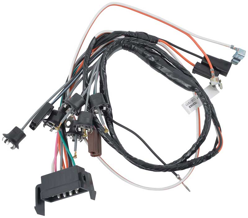 impala parts electrical and wiring wiring and connectors 1966 impala full size manual trans and console gauges console wiring harness