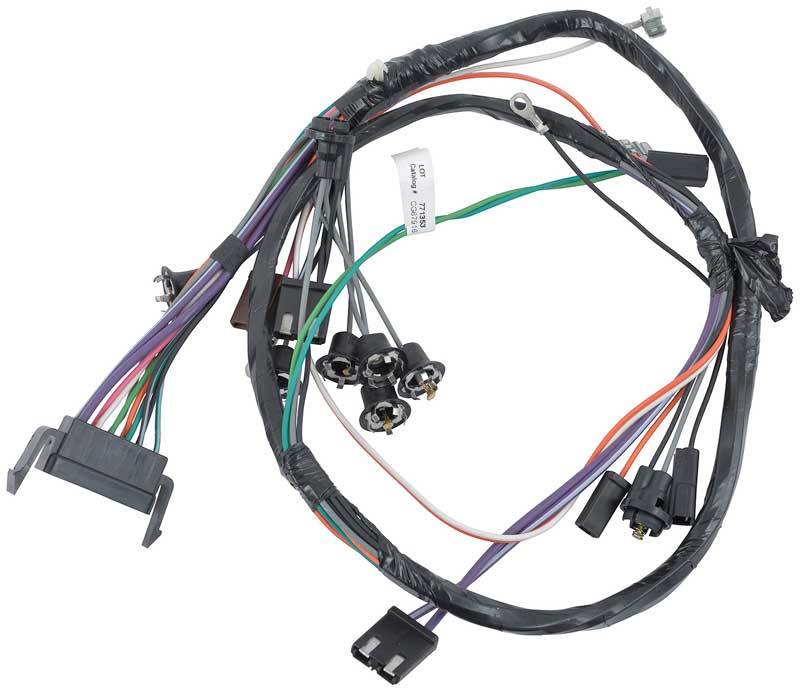 1966 impala parts electrical and wiring wiring and connectors 1966 impala full size auto trans console gauges console wiring harness