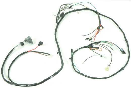 cg85041di - 1968 impala/full size v8 with factory gauges & lh internal  regulated alternator front light harness