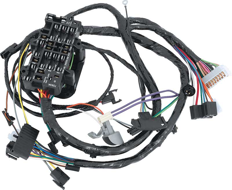 gm truck parts electrical and wiring wiring and connectors 1975 under dash wire harness gauges