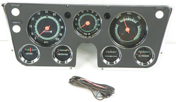 Labeled Instrument Panel For Trucks : Chevy c gauge amp wiring truck