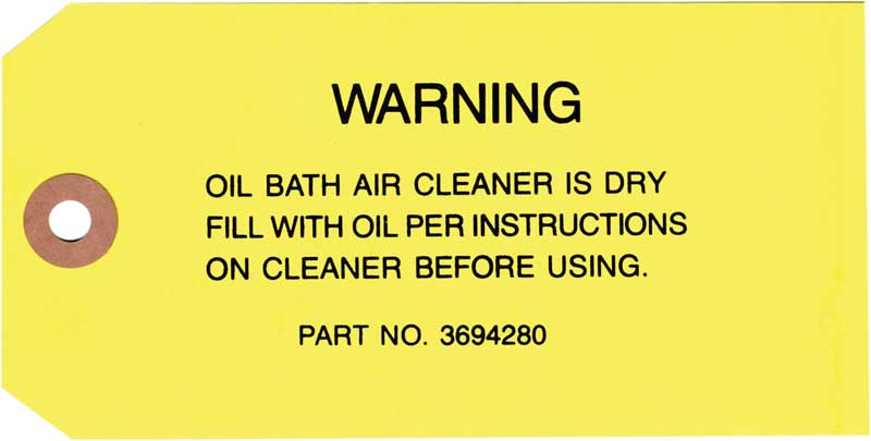 Servicing Oil Bath Air Cleaner : All makes models parts dc