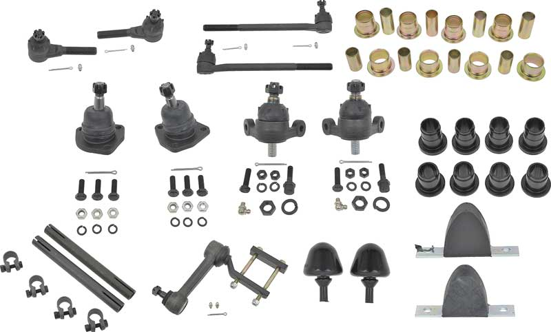 Red Poly Front Suspension Master Rebuild Kit Fits 1961 1962 Chevrolet Full Size