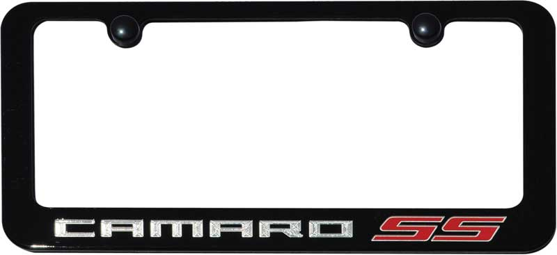 2010 13 camaro ss ppg paint color matched license frame black