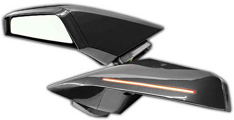 2010-2015 Chevrolet Camaro Parts | GF8179 | 2010-15 Camaro Silver Ice  Metallic (Paint Code GAN) Ghosted LED Dual Intensity Concept Side Mirrors |