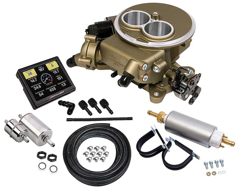 1964-1973 All Makes All Models Parts   H550851K   Holley Sniper EFI 2300  2-Barrel Self-Tuning Fuel Injection Conversion Master Kit - Classic Gold  