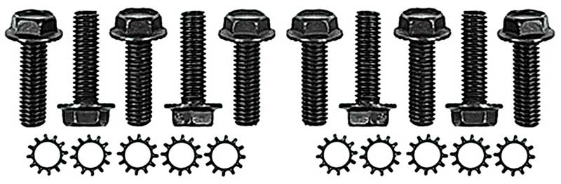 New 1966-1968 Ford MUSTANG Door Hinge Bolt Set Both Upper and Lower 11 pc Kit