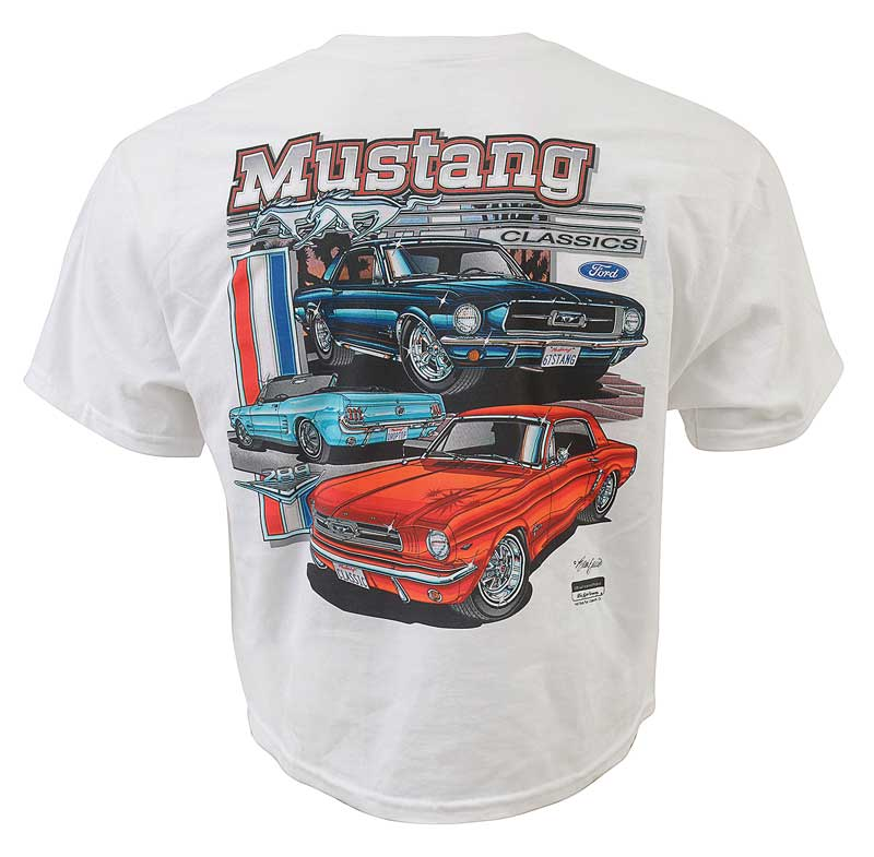 1964-2004 All Makes All Models Parts | HR7039XXXL | Classic Ford Mustang  White T-Shirt XXXL | Classic Industries