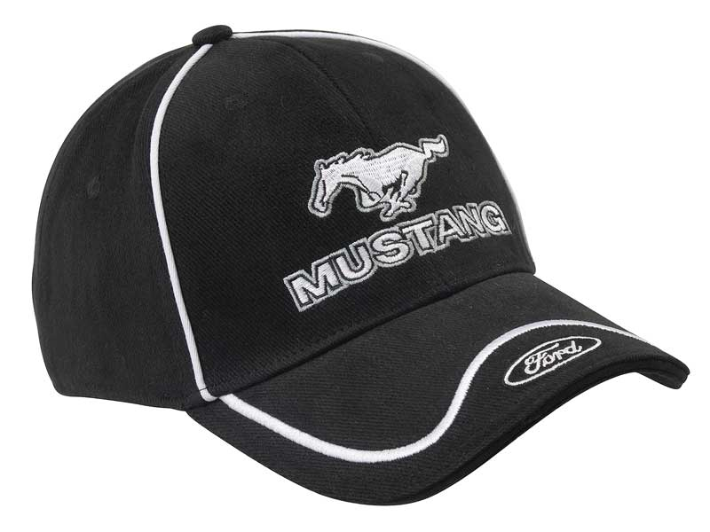Ford Mustang Black Hat//Cap with Mesh Back and Adjustable Closure