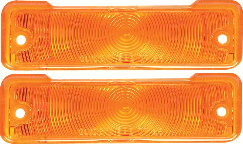 1963 1964 Nova Chevy II Parking Light Lens with Gaskets Pair Amber