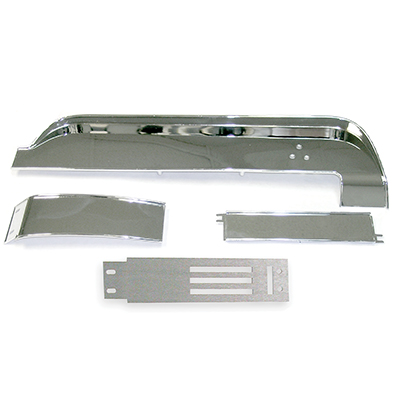 1967 1968 67 68 Mustang Dash Panel Trim Deluxe with Brushed Aluminum FREE SHIP!