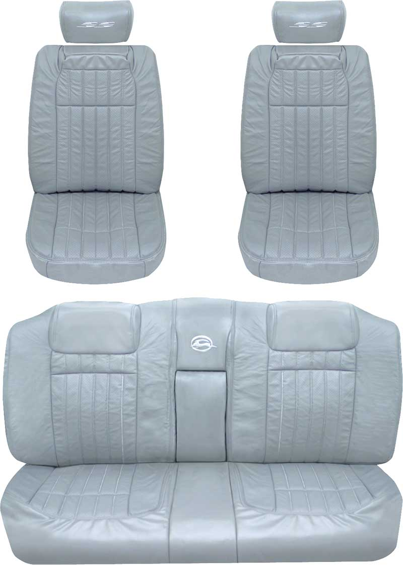 1994 Chevrolet Impala Parts B1009400227 96 Ss With 1966 Chevy Caprice 10 1 2 Wide Headrest Covers Gray Upholstery