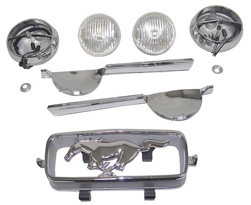 Quality Light Bars >> 1966 All Makes All Models Parts Gt1b 1966 Mustang Gt Light Bar Kit With Horse Classic Industries