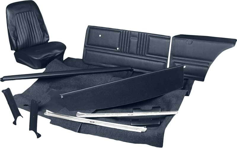 1968 all makes all models parts ktpc68101s 1968 camaro coupe w buckets black complete. Black Bedroom Furniture Sets. Home Design Ideas