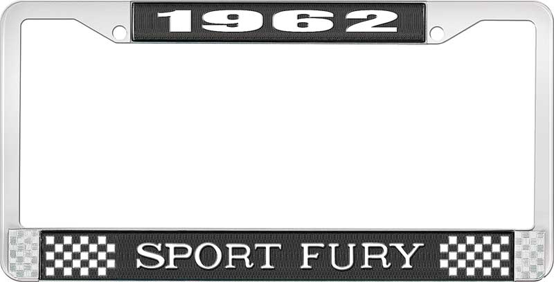 1962 Plymouth Fury Parts | *LF122062A | 1962 Sport Fury License ...