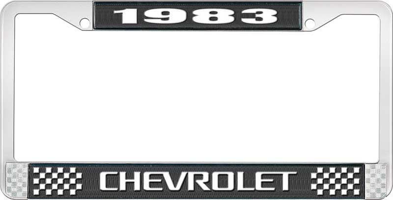 """Set of 2 1979 Chevy /""""Camaro/"""" Chrome License Plate Frame with Year and Bowtie"""
