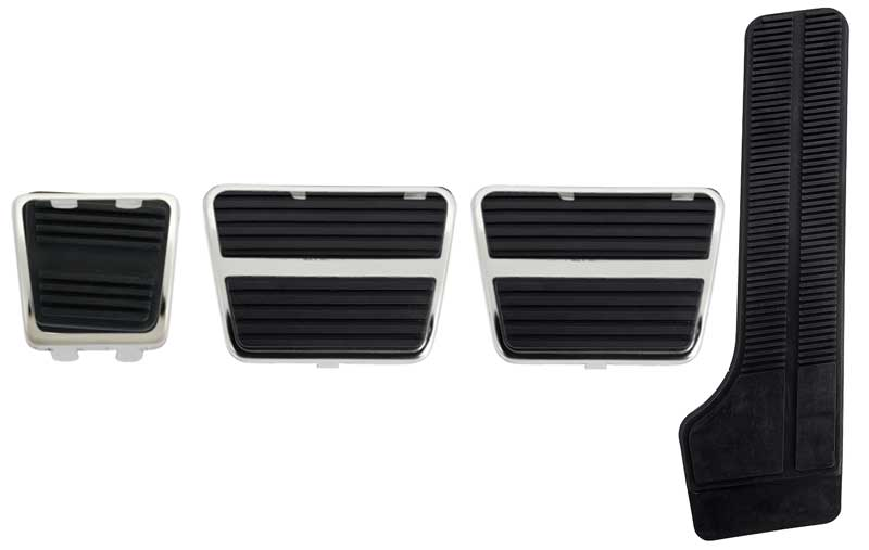 69 Camaro Drum Brake Manual Transmission Park Clutch Gas Pedal Pad Kit wTrim Set