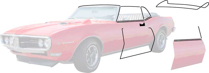 1968 chevrolet camaro parts weatherstrip convertible seals classic industries for 69 camaro complete interior kit