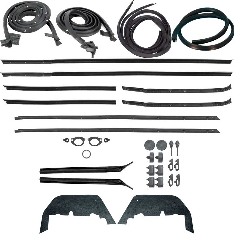 1966 Chevrolet Impala Parts Weatherstrip Complete Seal Kits