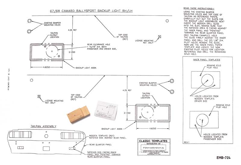 KW605 1968 chevrolet camaro parts lighting back up lamps classic 67 camaro rs headlight wiring diagram at gsmx.co