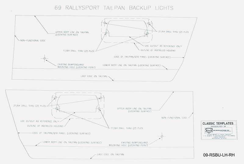 1969 chevrolet camaro parts lighting back up lamps classic backup light wiring diagram free