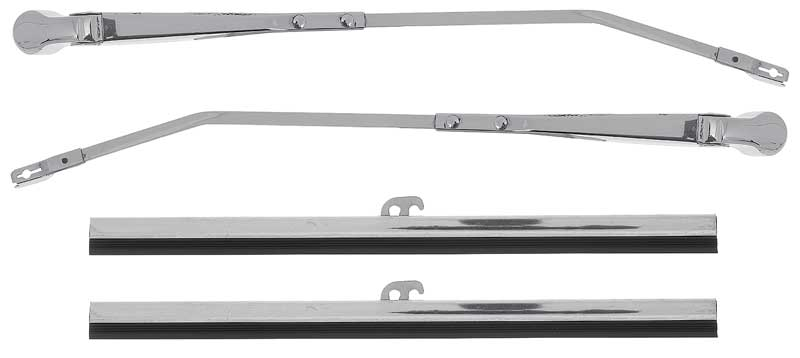 """PAIR OF 10/"""" INCH STAINLESS STEEL CLASSIC CAR WIPER BLADES 7mm BAYONET FITTING"""