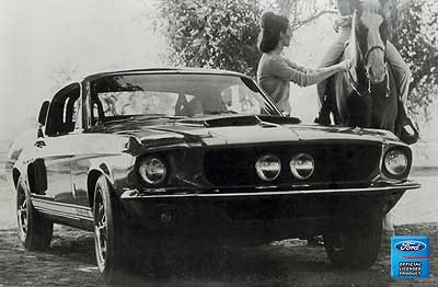 1967 Mustang Gt 500 12 X 18 Vintage Photo