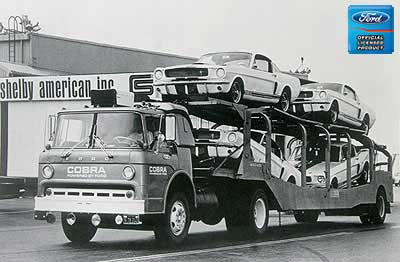 1965 All Makes All Models Parts   L416-CM   Car Hauler Loaded With New  Shelbys 12 X 18 Vintage Photo   Classic Industries