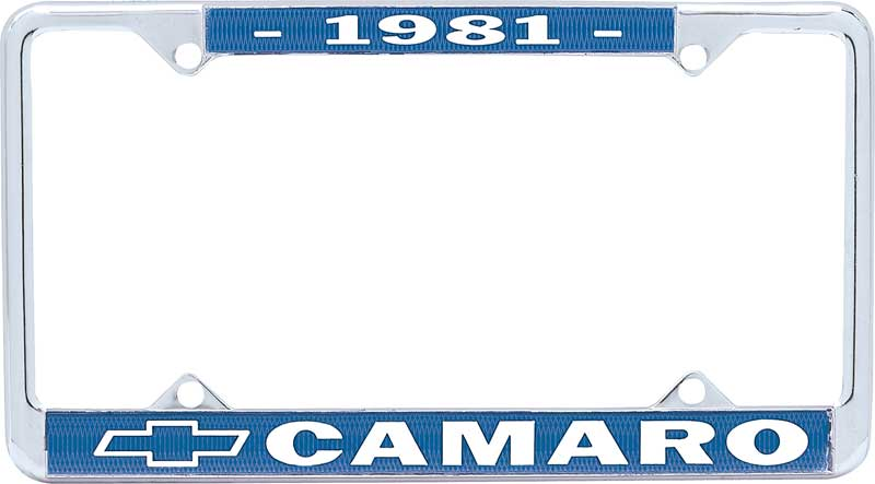 1981 camaro license frames