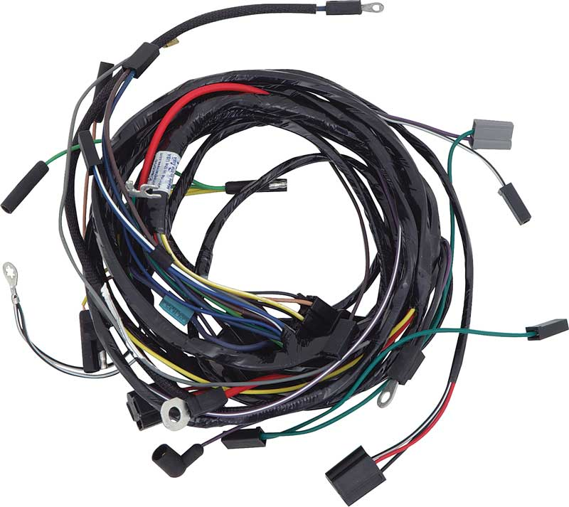 mopar parts electrical and wiring wiring and connectors 1968 barracuda engine front light harness 318 340