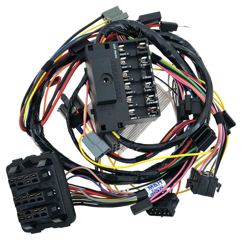 1966 mopar parts electrical and wiring classic industries 1966 barracuda under dash wire harness
