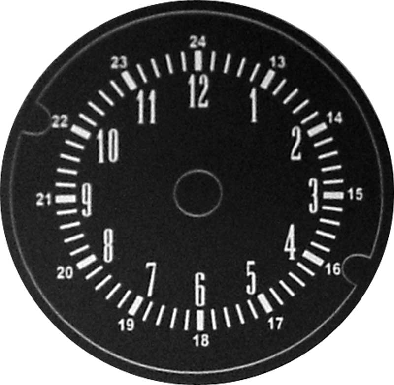 1969 Plymouth Barracuda Parts   MA820141   1968-71 Mopar A-Body With Rallye  Gauges Clock Face Decal   Classic Industries